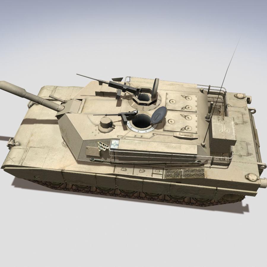 M1 Abrams royalty-free 3d model - Preview no. 3
