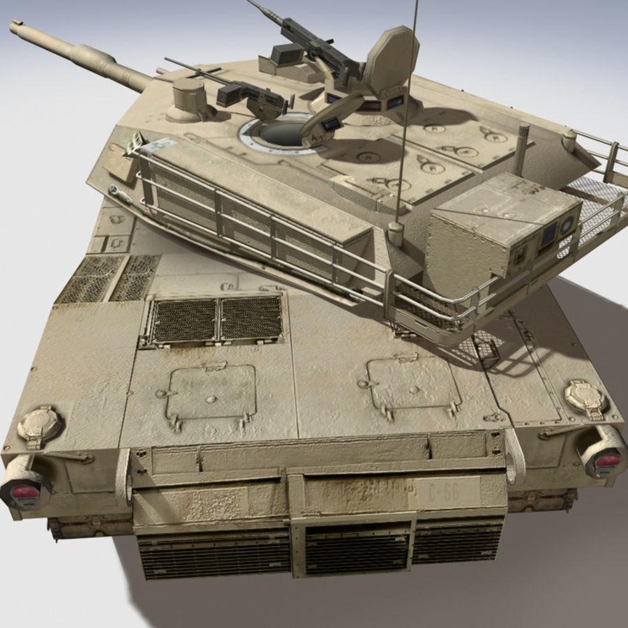 M1 Abrams royalty-free 3d model - Preview no. 11