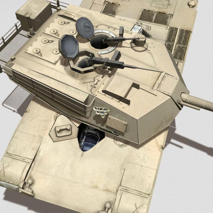 M1 Abrams royalty-free 3d model - Preview no. 5