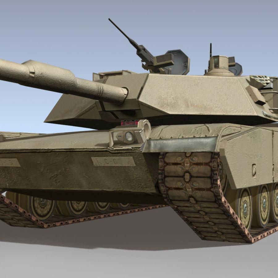M1 Abrams royalty-free 3d model - Preview no. 6