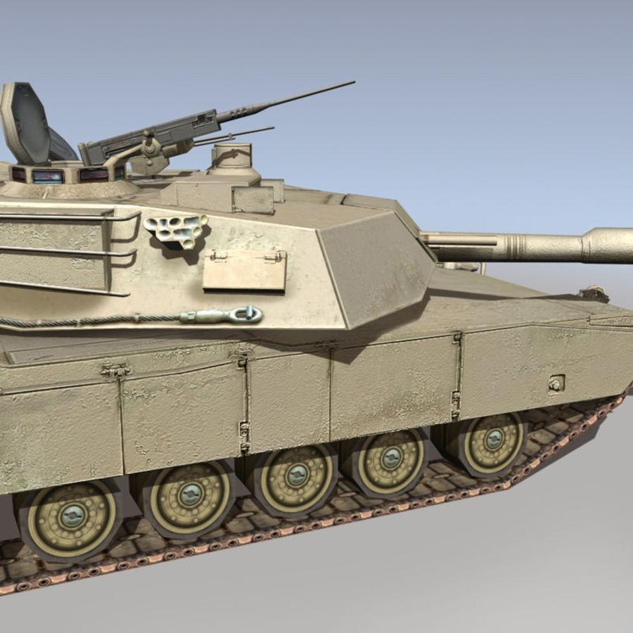 M1 Abrams royalty-free 3d model - Preview no. 14