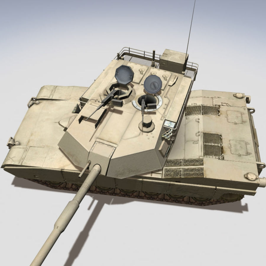M1 Abrams royalty-free 3d model - Preview no. 4