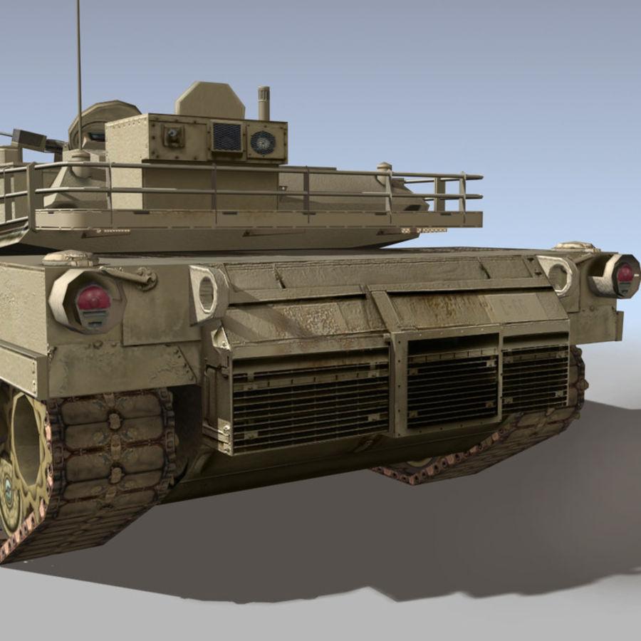 M1 Abrams royalty-free 3d model - Preview no. 10