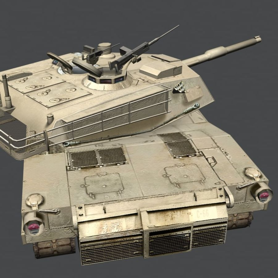 M1 Abrams royalty-free 3d model - Preview no. 20