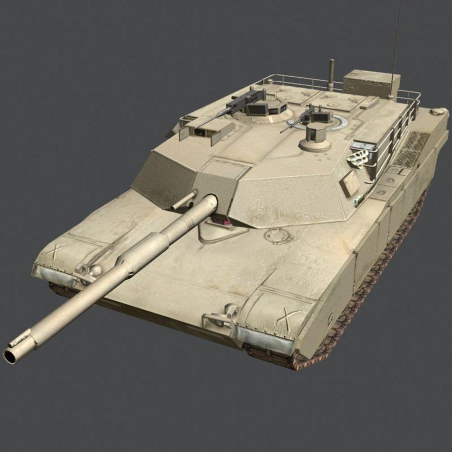 M1 Abrams royalty-free 3d model - Preview no. 17