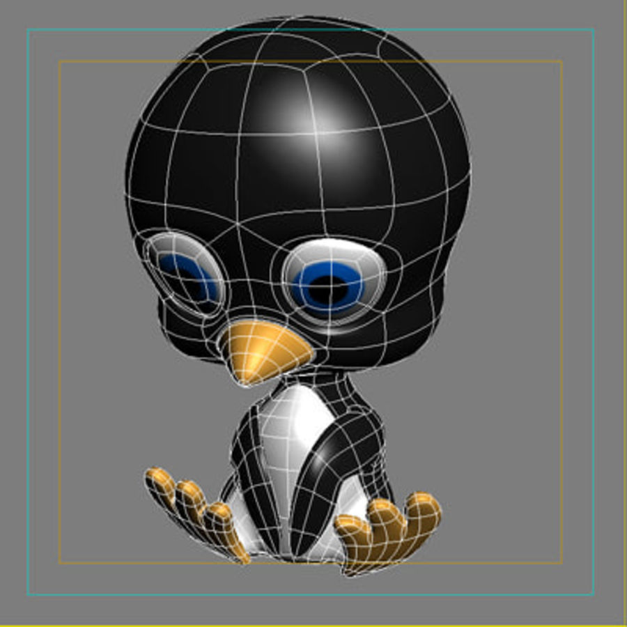 Penguin royalty-free 3d model - Preview no. 4