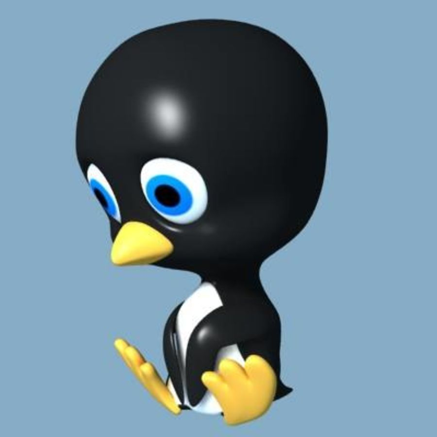 Penguin royalty-free 3d model - Preview no. 2