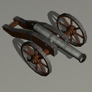 Cannon - XVI wiek 3d model