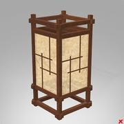 Lamp standing japanese style072 3d model