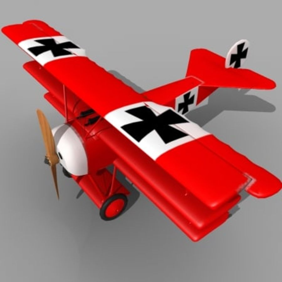 Fokker Dr. I Red Baron royalty-free 3d model - Preview no. 4