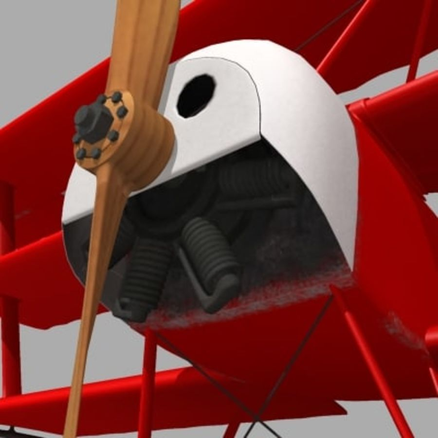 Fokker Dr. I Red Baron royalty-free 3d model - Preview no. 6