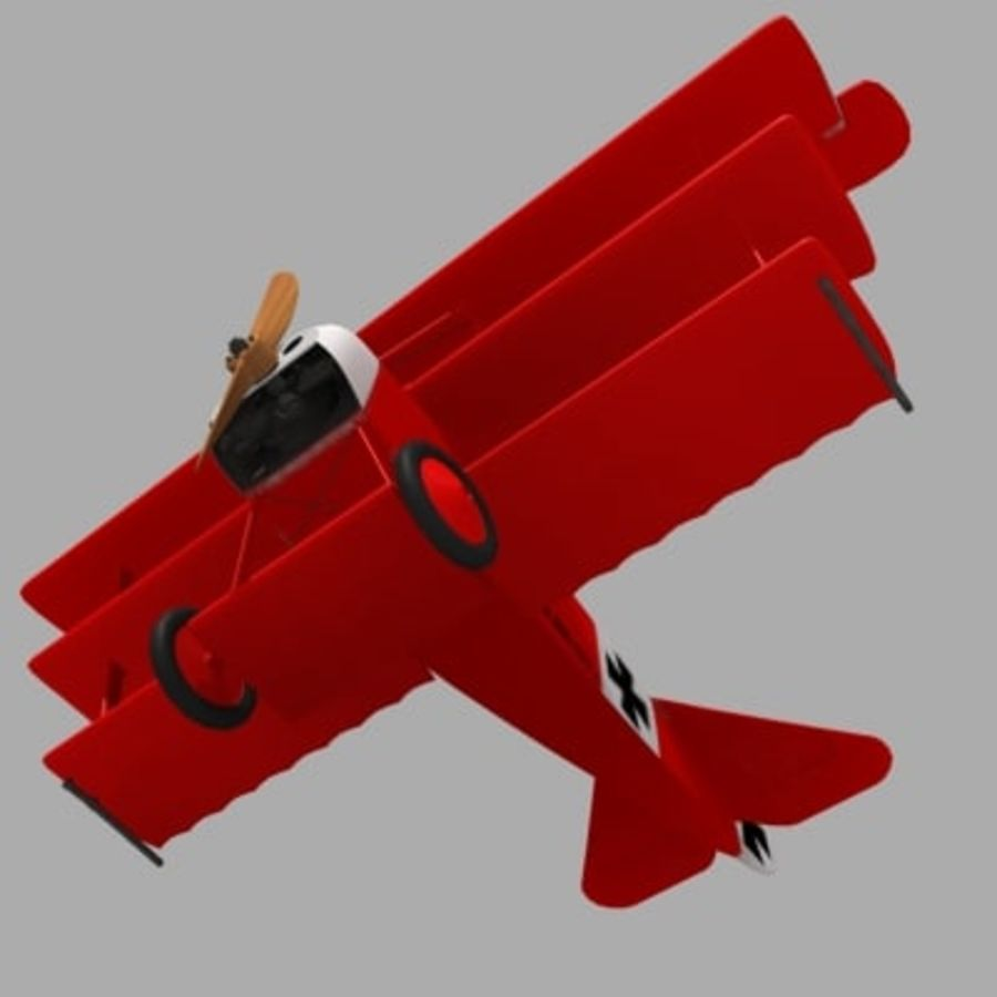 Fokker Dr. I Red Baron royalty-free 3d model - Preview no. 5