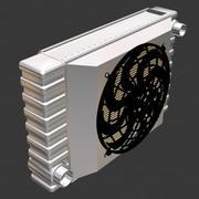 Automotive Radiator, fan shroud, and electric cooling fan 3d model