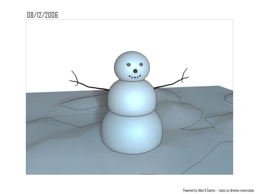 Snowman royalty-free 3d model - Preview no. 3