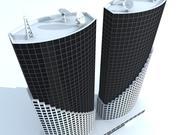 unique building 6 3d model