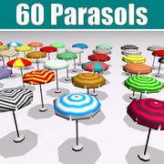 60 Parasols Collection 3d model