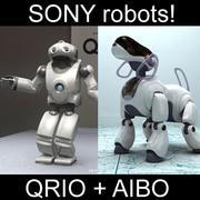 Sony robots - Aibo + Qrio 3d model