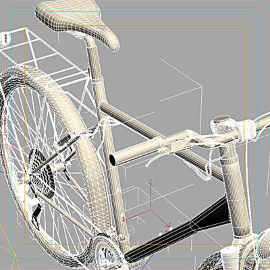 Toerfiets 3ds royalty-free 3d model - Preview no. 6