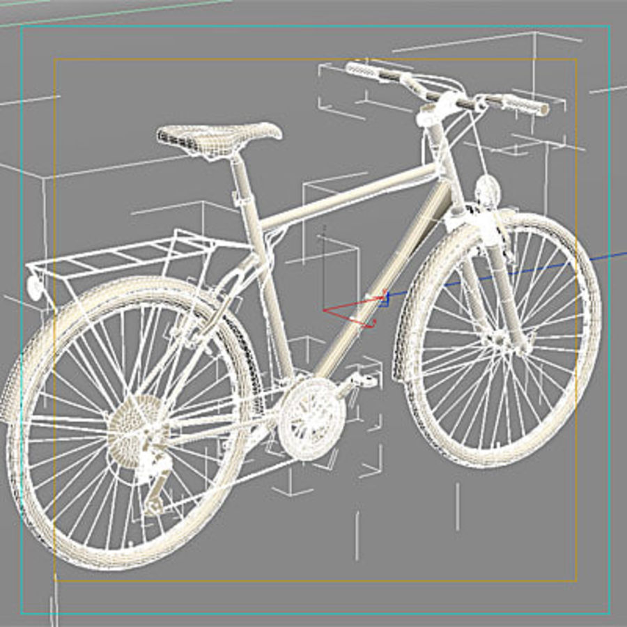 Toerfiets 3ds royalty-free 3d model - Preview no. 7