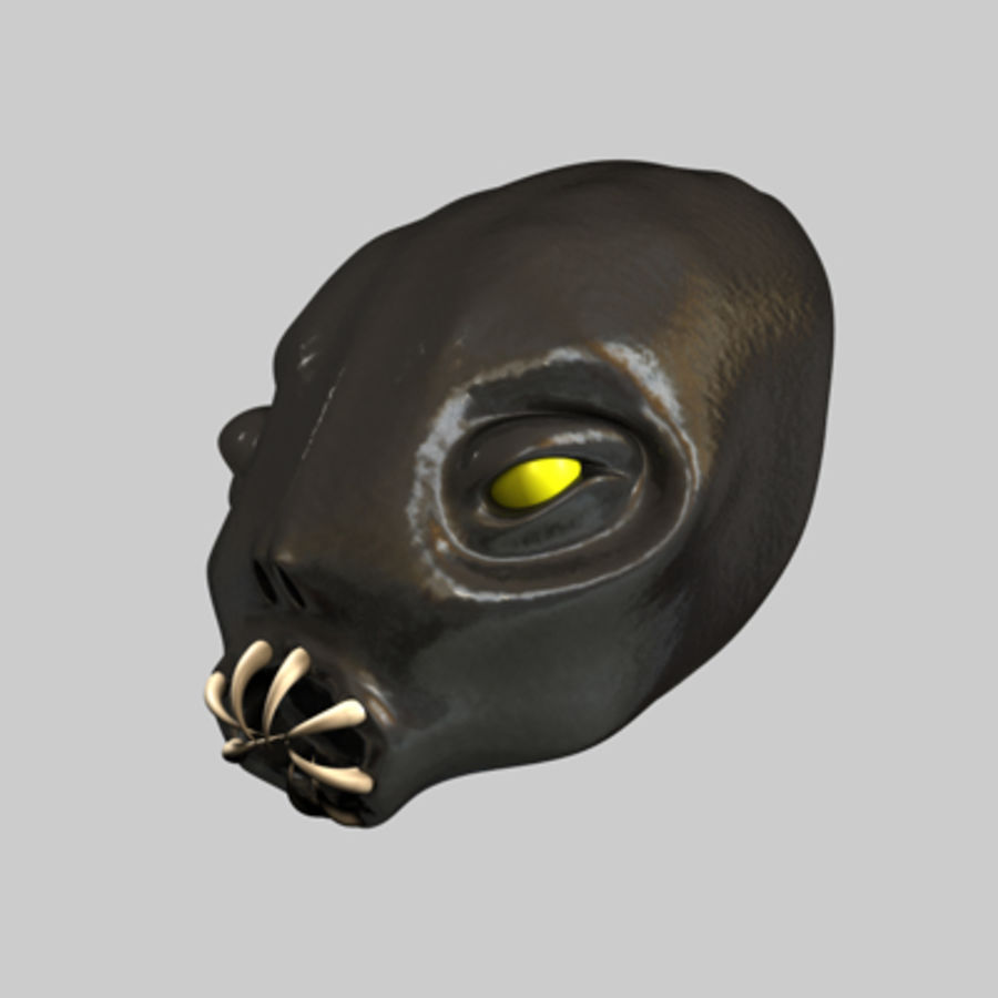 Creature Head royalty-free 3d model - Preview no. 1