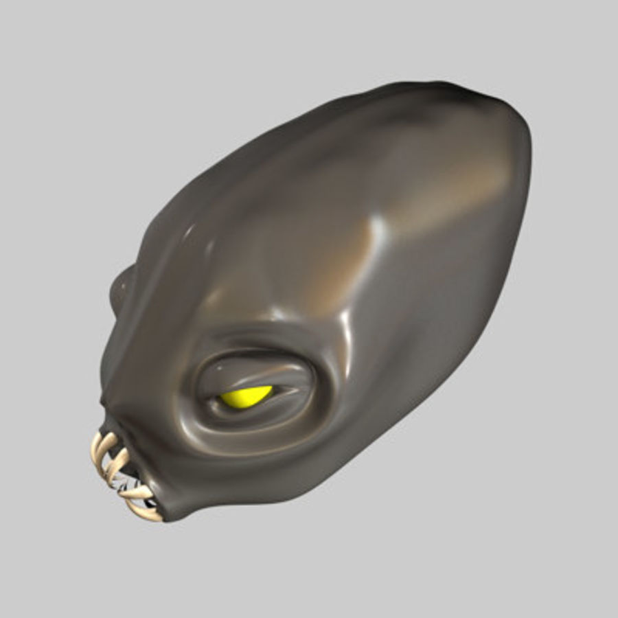Creature Head royalty-free 3d model - Preview no. 2