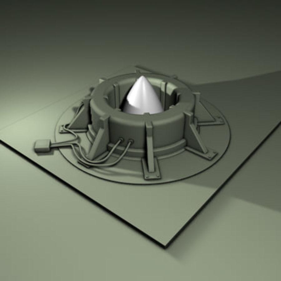 Ракетный бункер royalty-free 3d model - Preview no. 2