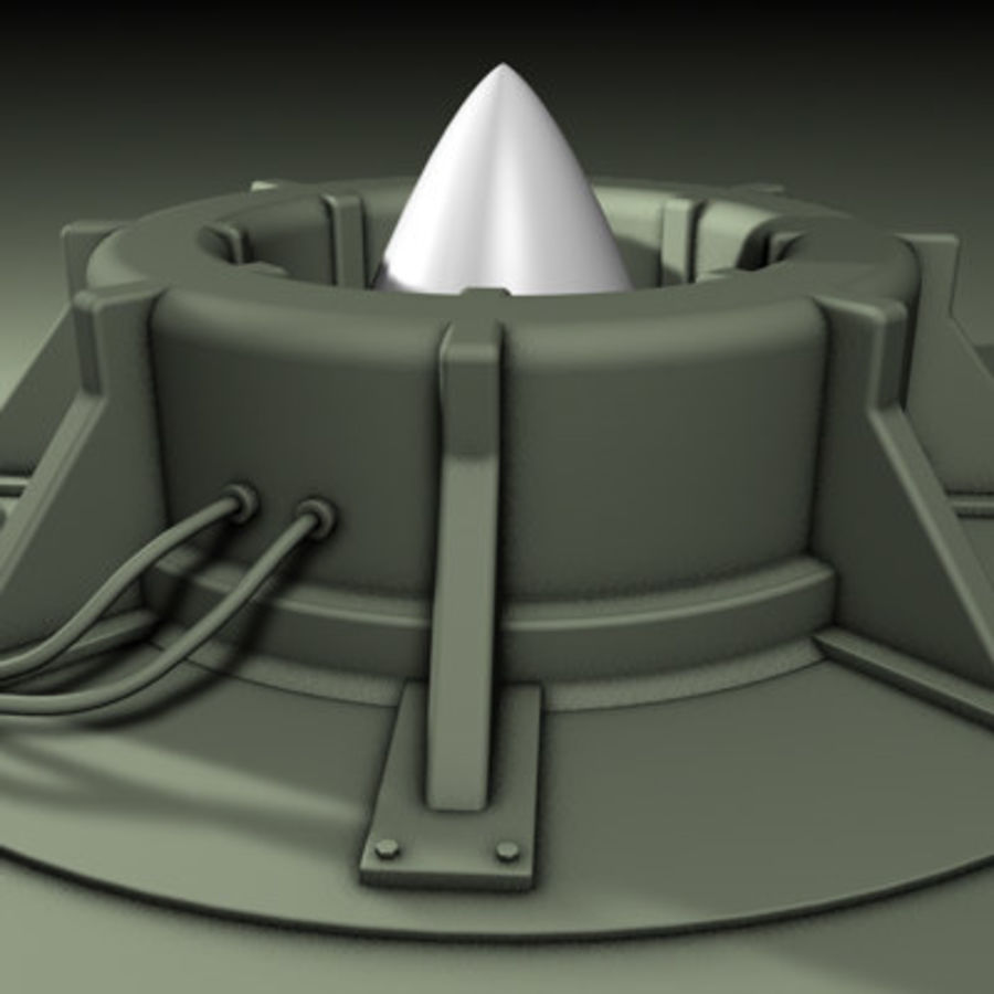 Rocket Silo royalty-free 3d model - Preview no. 1