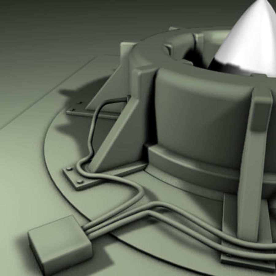 Rocket Silo royalty-free 3d model - Preview no. 3