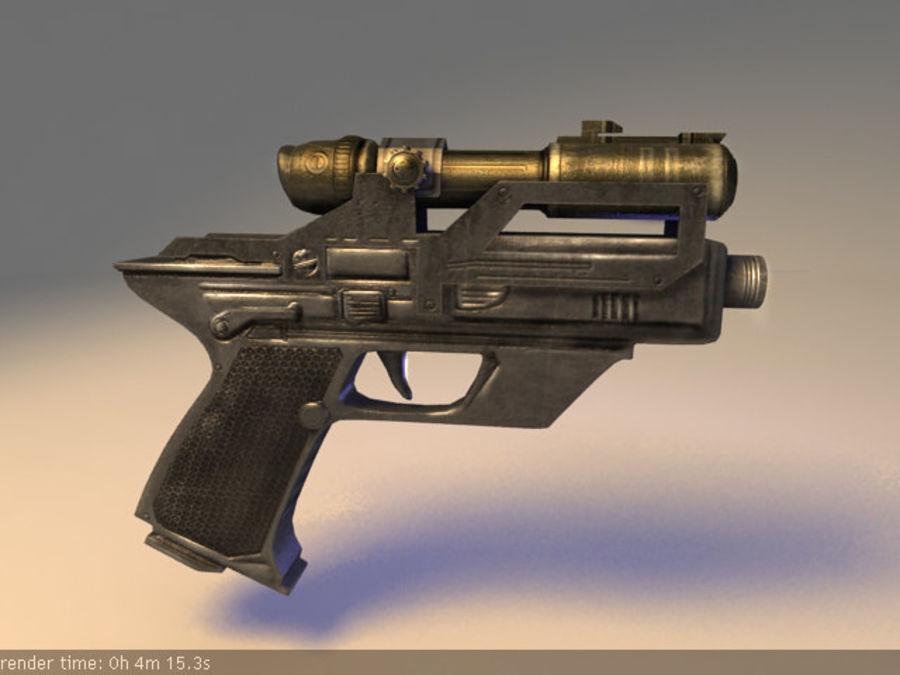 scifi_pistol_maya.zip royalty-free 3d model - Preview no. 2