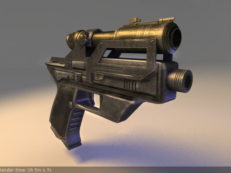 scifi_pistol_maya.zip royalty-free 3d model - Preview no. 1