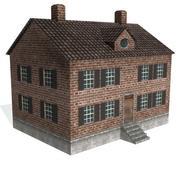 Brick Federalist House 3d model