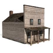 西方阴影的房子 3d model