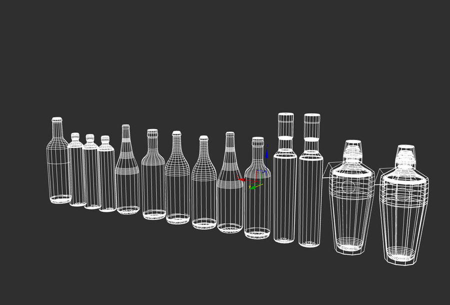 Liquer Bottles Collection 1.zip royalty-free 3d model - Preview no. 3