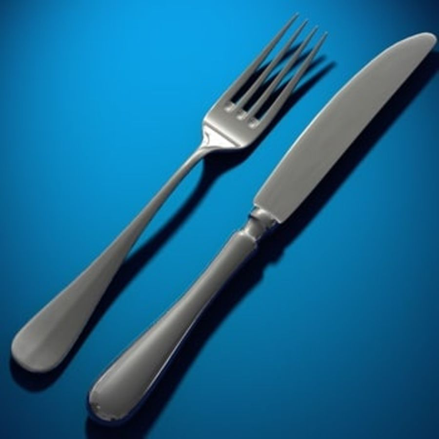 cutlery royalty-free 3d model - Preview no. 1
