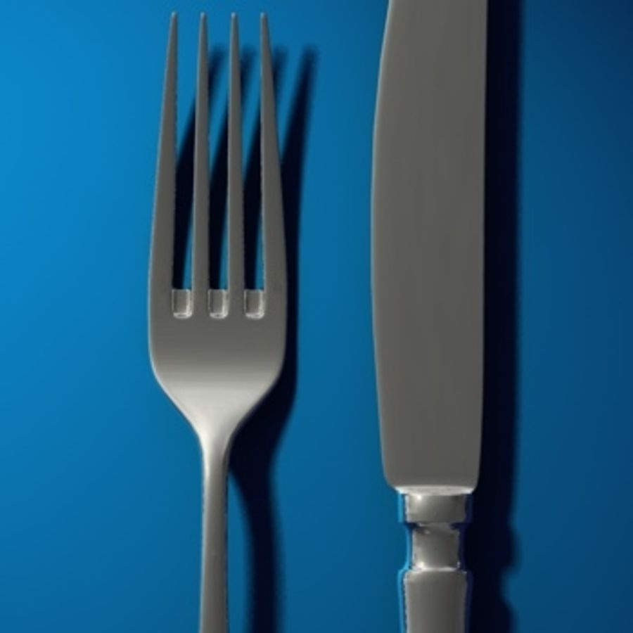 cutlery royalty-free 3d model - Preview no. 4