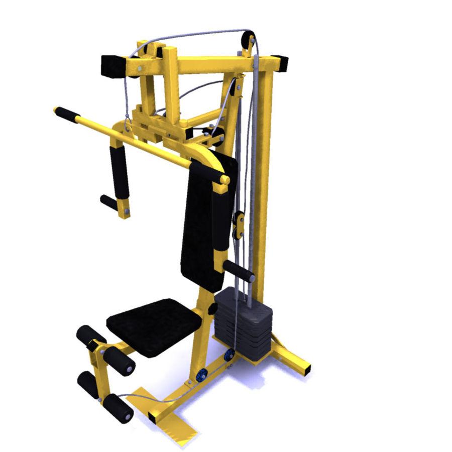 家用健身器材 royalty-free 3d model - Preview no. 2