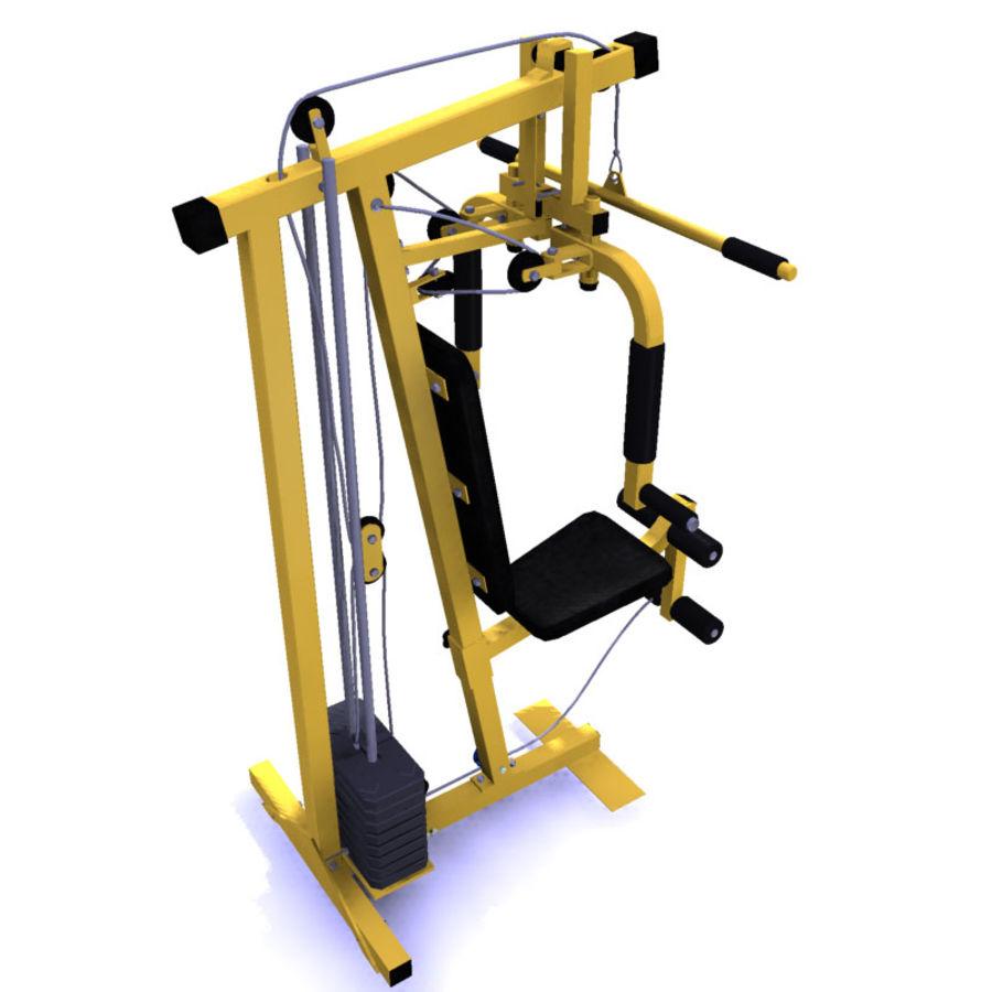 家用健身器材 royalty-free 3d model - Preview no. 3
