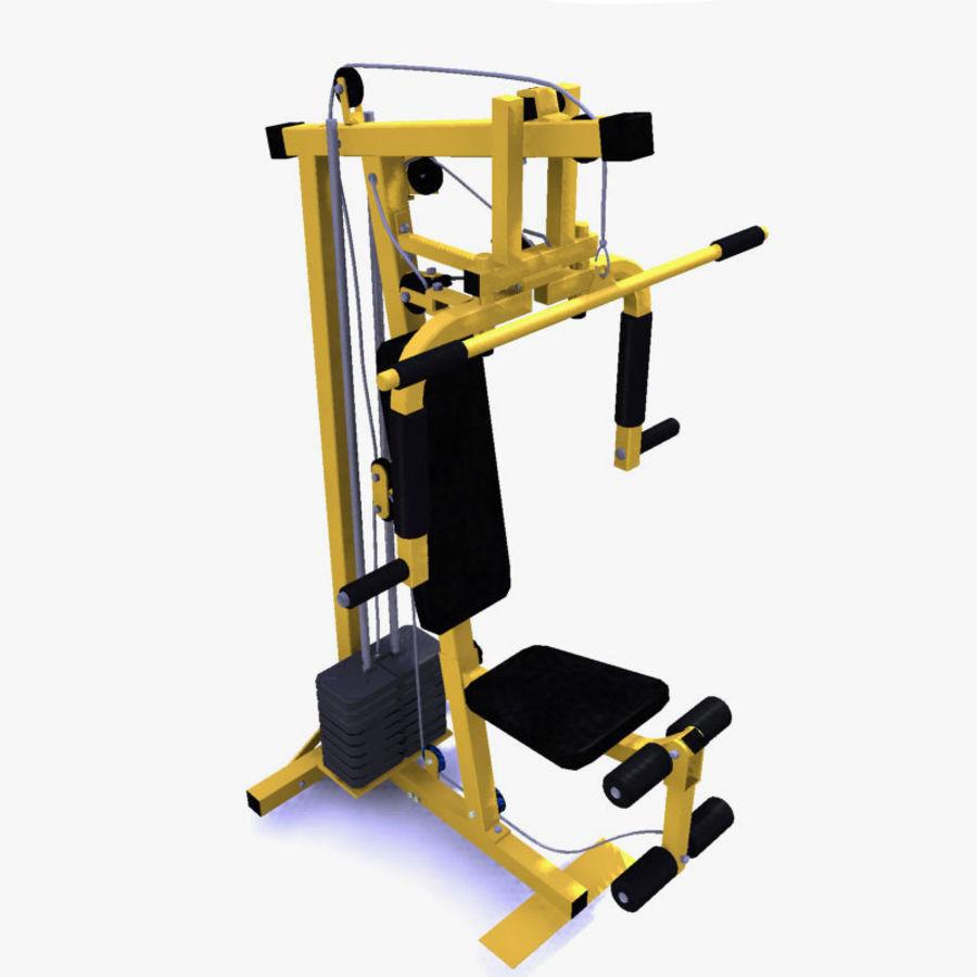 家用健身器材 royalty-free 3d model - Preview no. 1