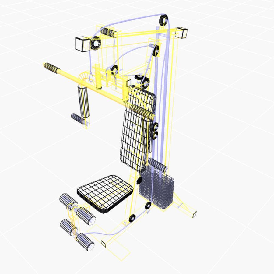 家用健身器材 royalty-free 3d model - Preview no. 4