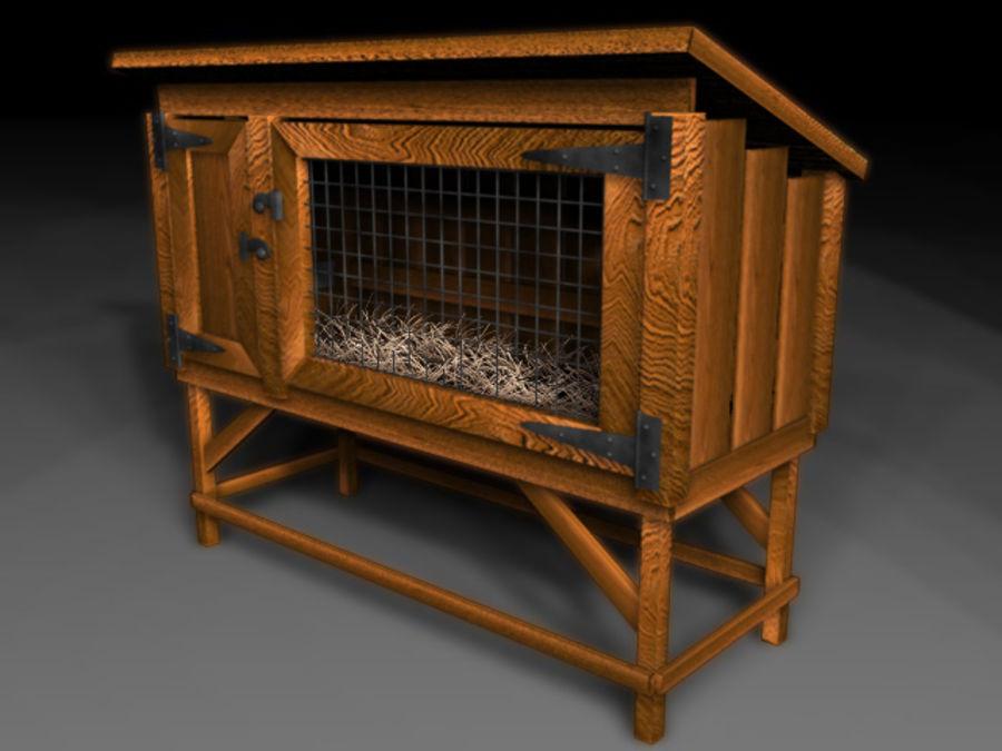 Rabbit Hutch_01 royalty-free 3d model - Preview no. 1
