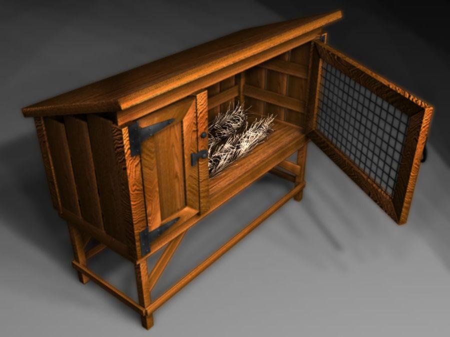 Rabbit Hutch_01 royalty-free 3d model - Preview no. 3