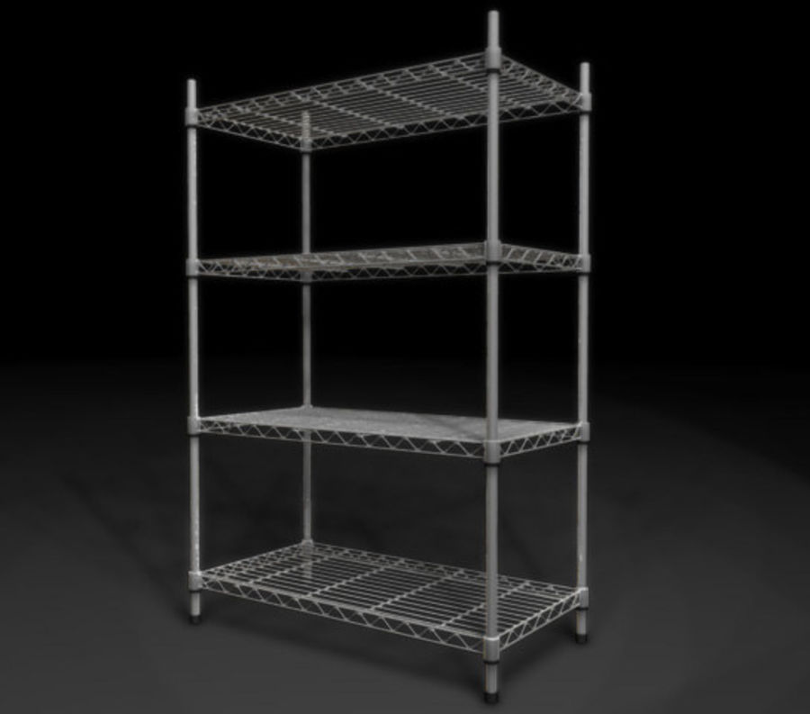 Wire Storage Rack_01.zip royalty-free 3d model - Preview no. 1