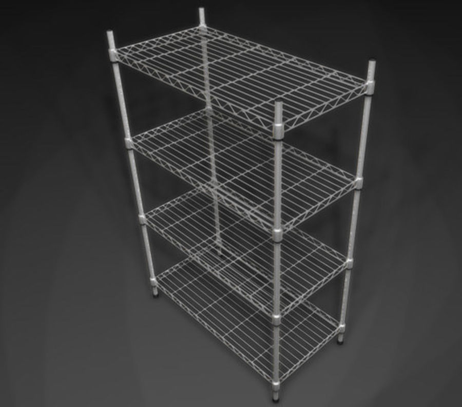 Wire Storage Rack_01.zip royalty-free 3d model - Preview no. 3