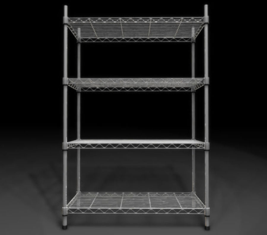 Wire Storage Rack_01.zip royalty-free 3d model - Preview no. 2