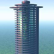 futuristic highrise 3d model