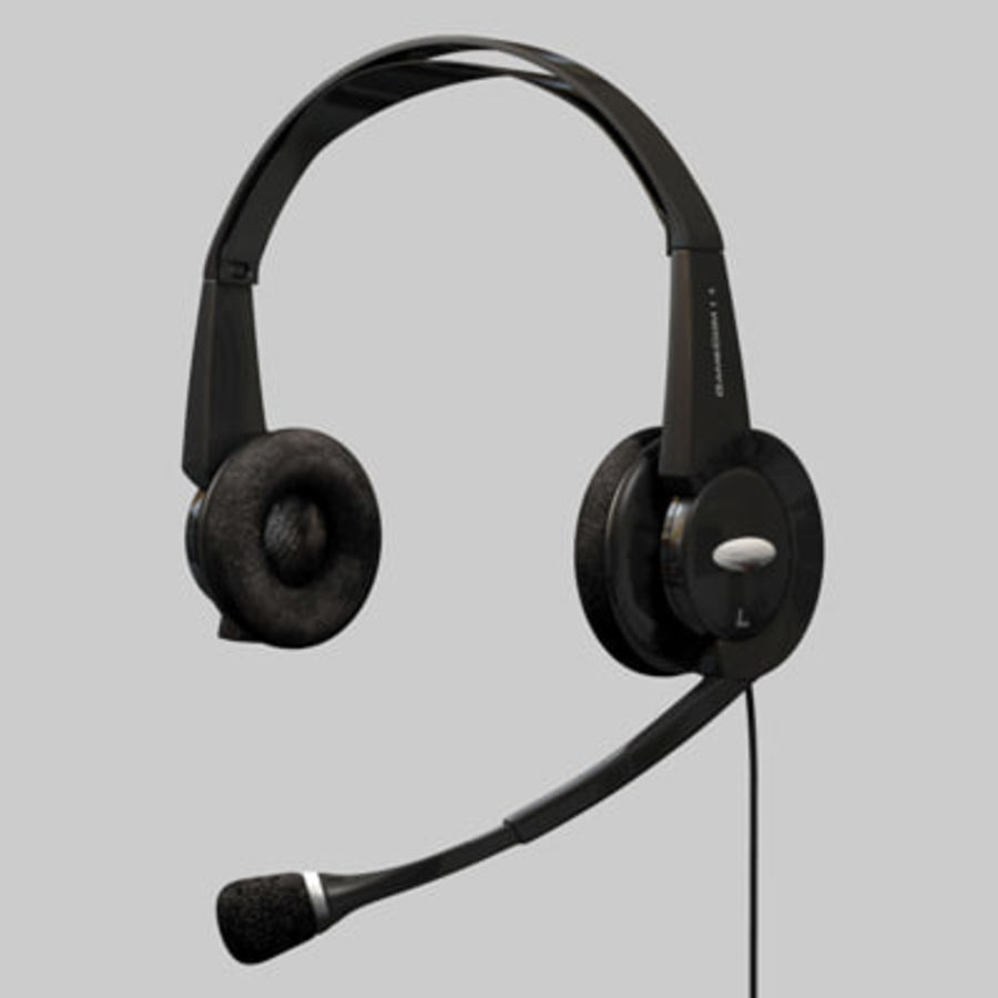 Headset / Earphones royalty-free 3d model - Preview no. 1