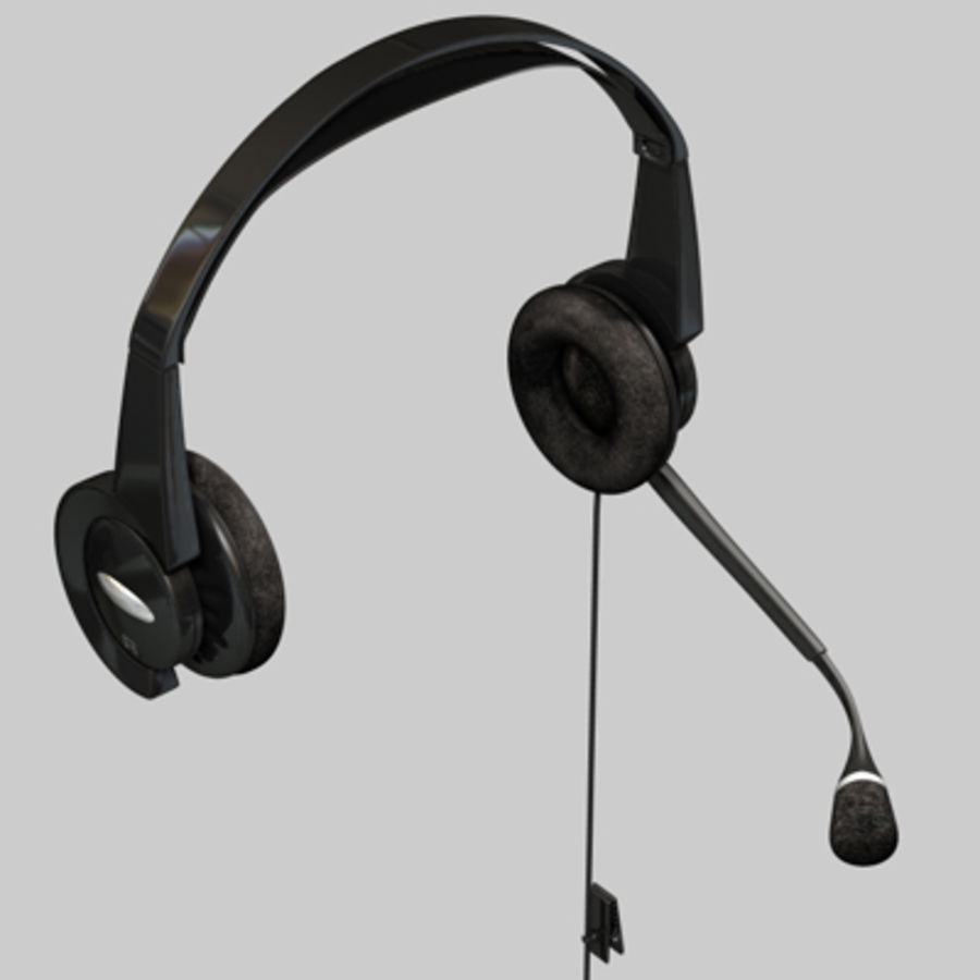 Headset / Earphones royalty-free 3d model - Preview no. 4