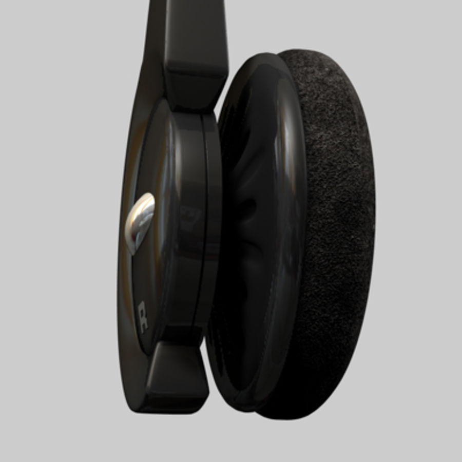 Headset / Earphones royalty-free 3d model - Preview no. 12
