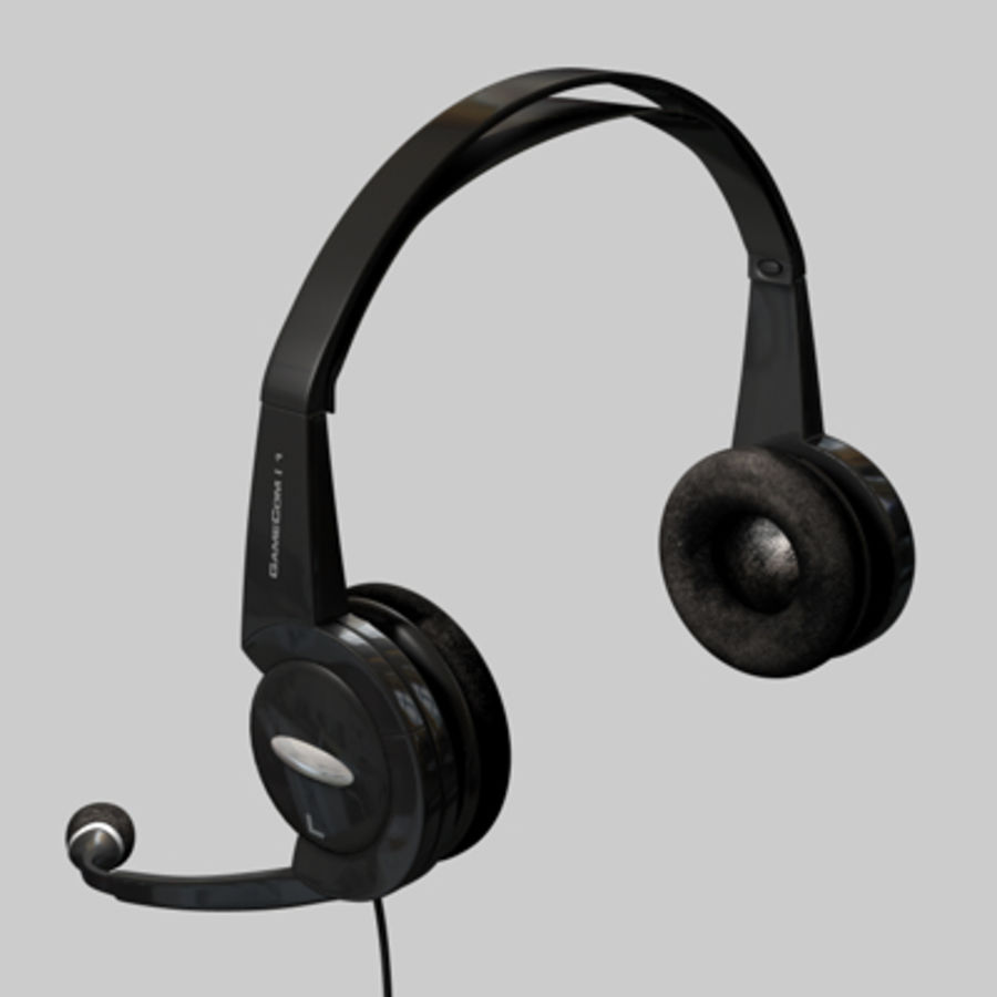 Headset / Earphones royalty-free 3d model - Preview no. 5