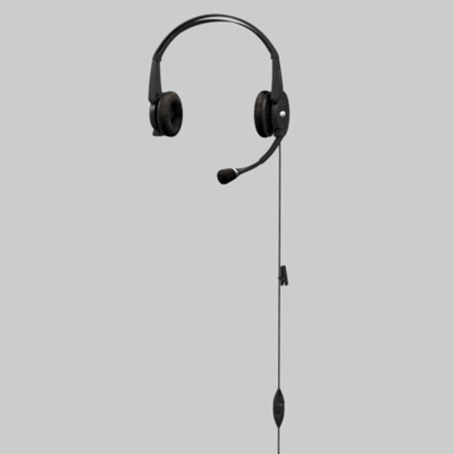 Headset / Earphones royalty-free 3d model - Preview no. 10